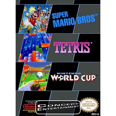 Nes 3in1 Super Mario Bros Tetris Nintendo World Cup