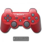 PS3 Handkontroll Original DualShock Sixaxis Röd